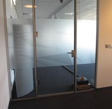 Glass door partial graphics