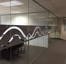 Custom printed glass graphics