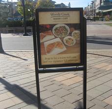 Retail sidewalk signs