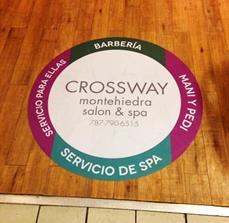 Crossway Salon and Spa Floor Graphics