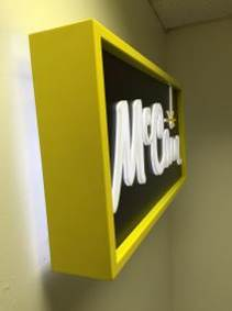 McCain Foods Illuminated Wall Sign