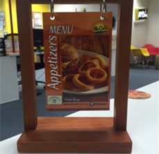 McCain Foods Menu Display