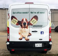 Greenwood Office Outfitters Vehicle Graphics