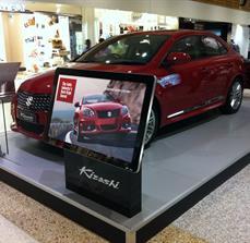 Car promotion kiosks