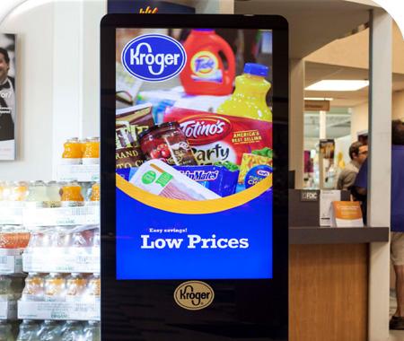 kroger, digital signage, retail