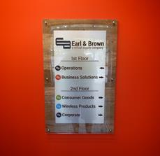 Manufacturing directional signage