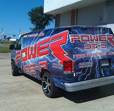 Radio station car graphics