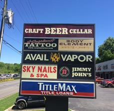 Craft Beer Cellar Monument Sign