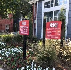 2900 Apartments Parking and Office Hours Sign