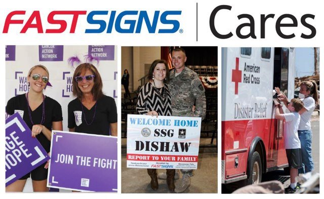 FASTSIGNS® Cares Initiative Benefits Local Charities and the Red Cross