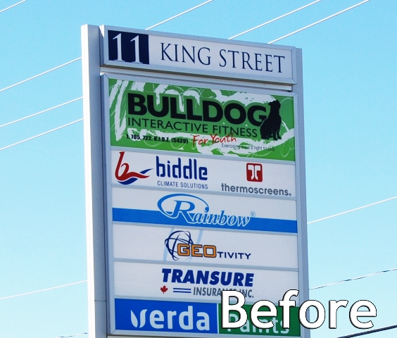 fastsigns_cestaric_bulldog_interactive_fitness_pylon_before
