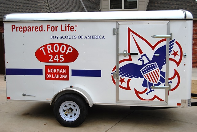 Boy Scout Troop 245 Gets New Trailer Graphics Donated by Local FASTSIGNS®