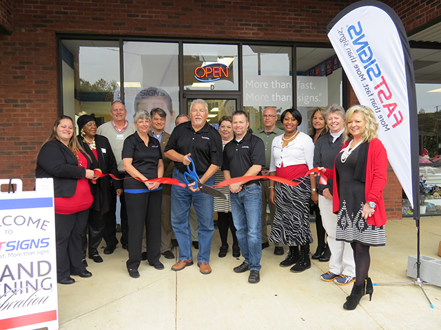 FASTSIGNS® of Newnan Celebrated Grand Opening with Ribbon Cutting