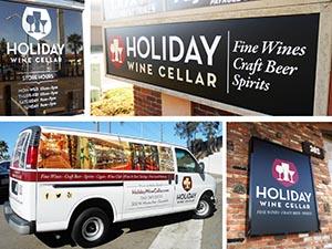 Holiday Wine Cellar Signage