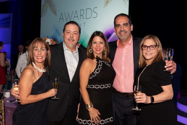 FASTSIGNS of Puerto Rico after receiving FASTSIGNS of the Year Award