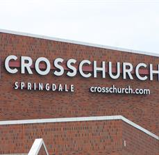 Church exterior lettering