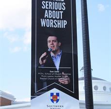 Church lightpost banners