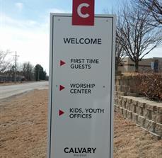 Church Parking Signs