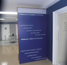 PRISMA Surfaces Showroom Sign