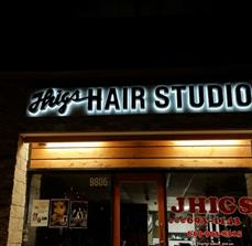 Thigs Hair Studio Building Letters