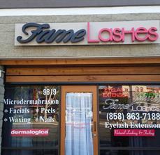 Fame Lashes Building Letters