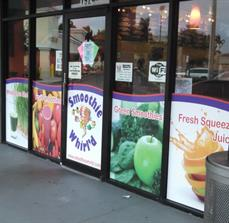 Smoothie Whirl Window Graphics