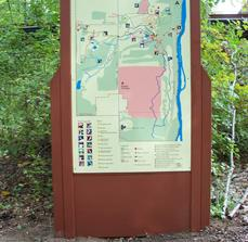 Custom trail map signage