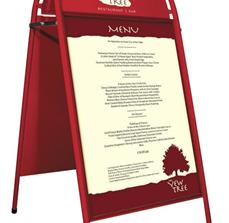 Restaurant menu a frame signs