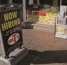 Now Hiring a frame signs