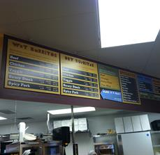 Custom Restaurant Menu Boards