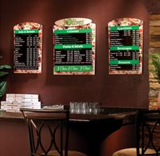 Custom Pizza Restaurant Menu Boards