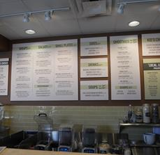 Menu Boards At Point Of Purchase