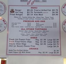 Diner Menu Boards