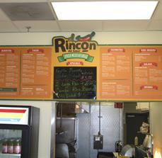 Mexican Restaurant Menu Board