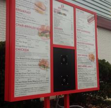 Drive Thru Restaurant Menu Board