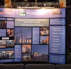 Custom convention booth graphics