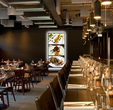 Illuminated Framed Restaurant Displays