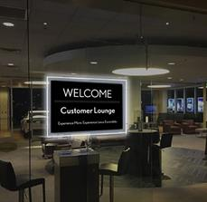 Illuminated Framed Customer Lounge Displays