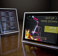 Illuminated Framed Restaurant Displays