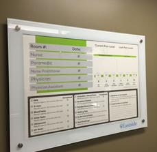 Eastside Medical Center Bacteria-Resistant Glassboard