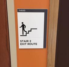 ADA Braille Stair Signage