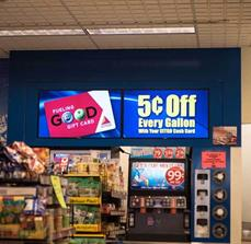 Convenience store digital signs