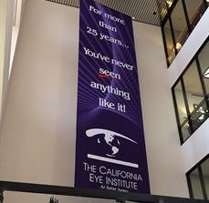 California Eye Institute Hanging Banner