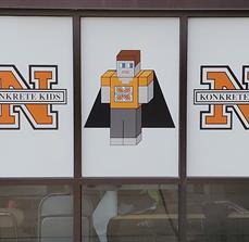 Northampton Konkrete Kids School District Window Graphics