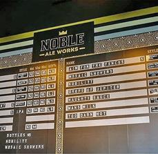 Noble Ale Works Menu Board
