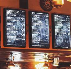 GBU Brewing Co. Digital Menu Boards
