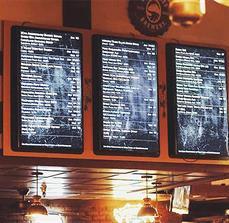 GBU Brewing Co. Digital Menu Boards