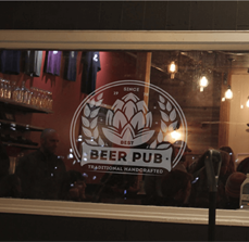 Noble Ale Works Window Graphics