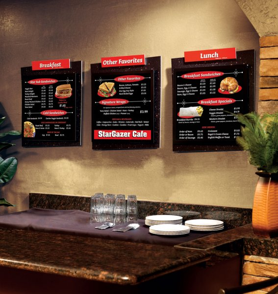 Pizza Restaurant Point Of Purchase Signs