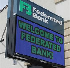 Federated Bank Digital Sign (Exterior)